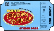 Super Showdown ticket invite
