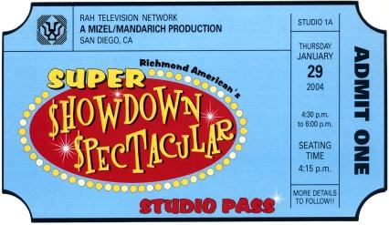 Super Showdown ticket invite